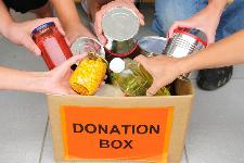 a box for donations