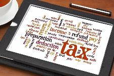 Tax refunds on a tablet